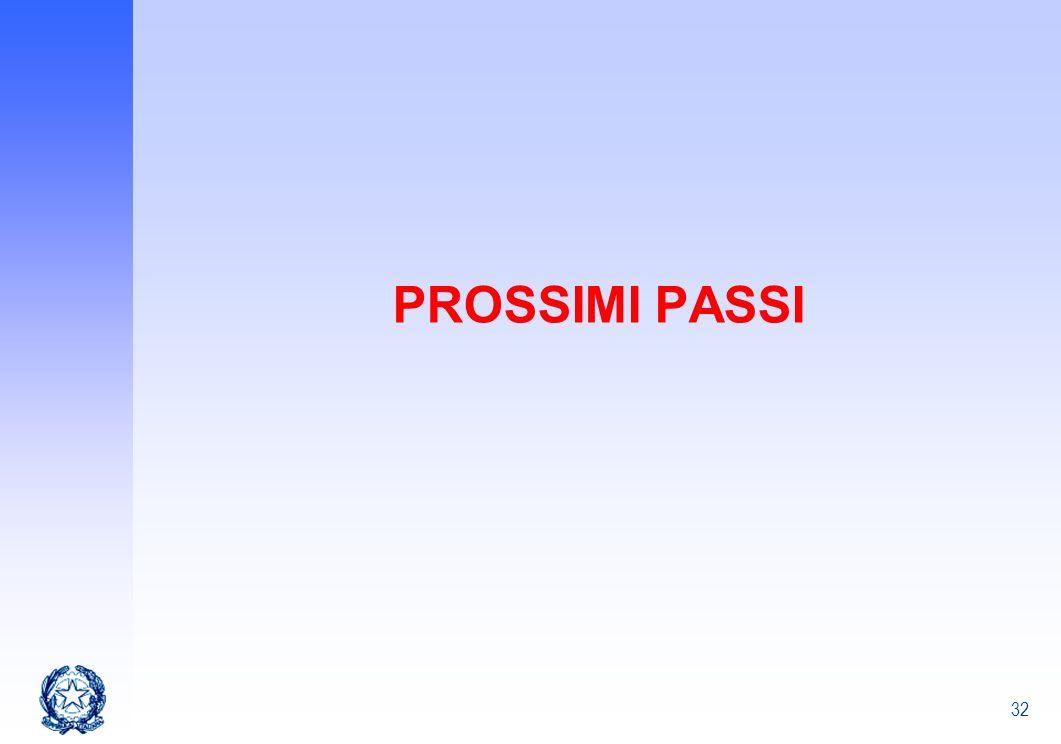 32 PROSSIMI PASSI