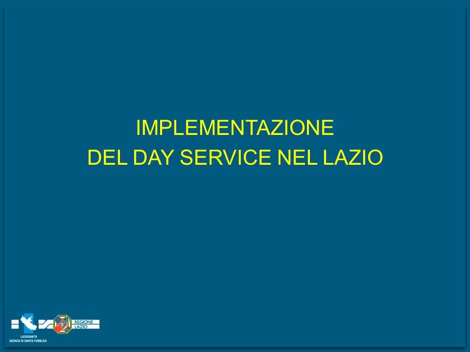 IMPLEMENTAZIONE DEL DAY SERVICE NEL LAZIO