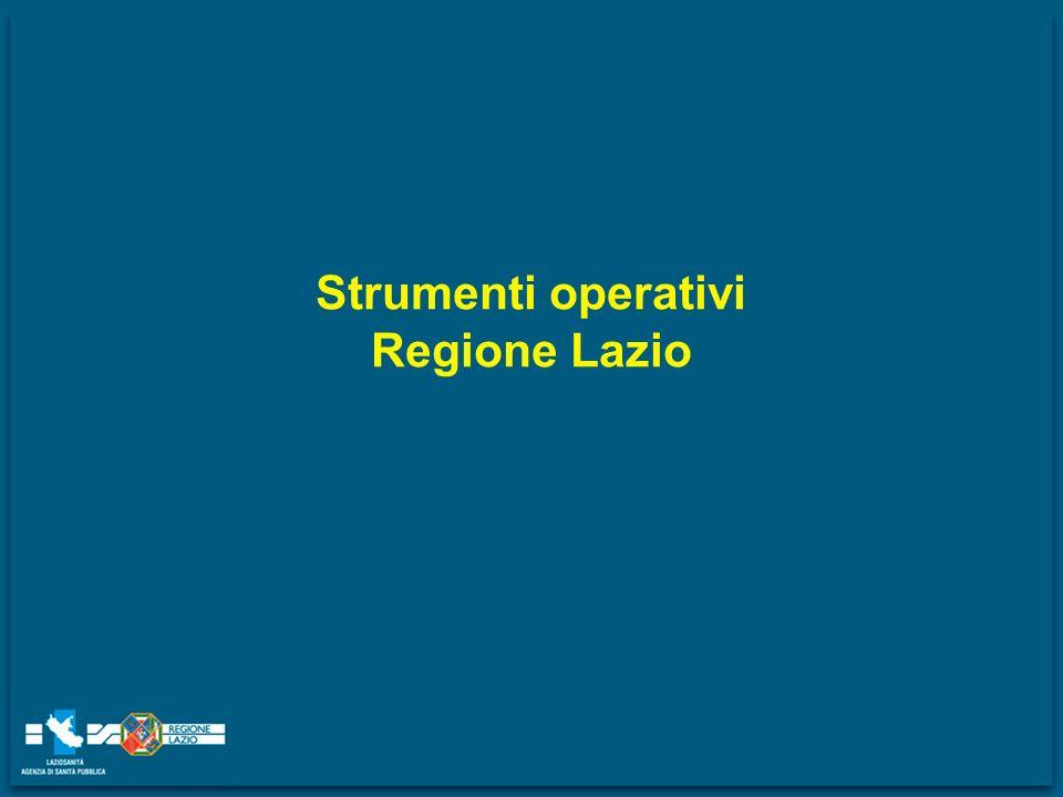Strumenti operativi Regione Lazio