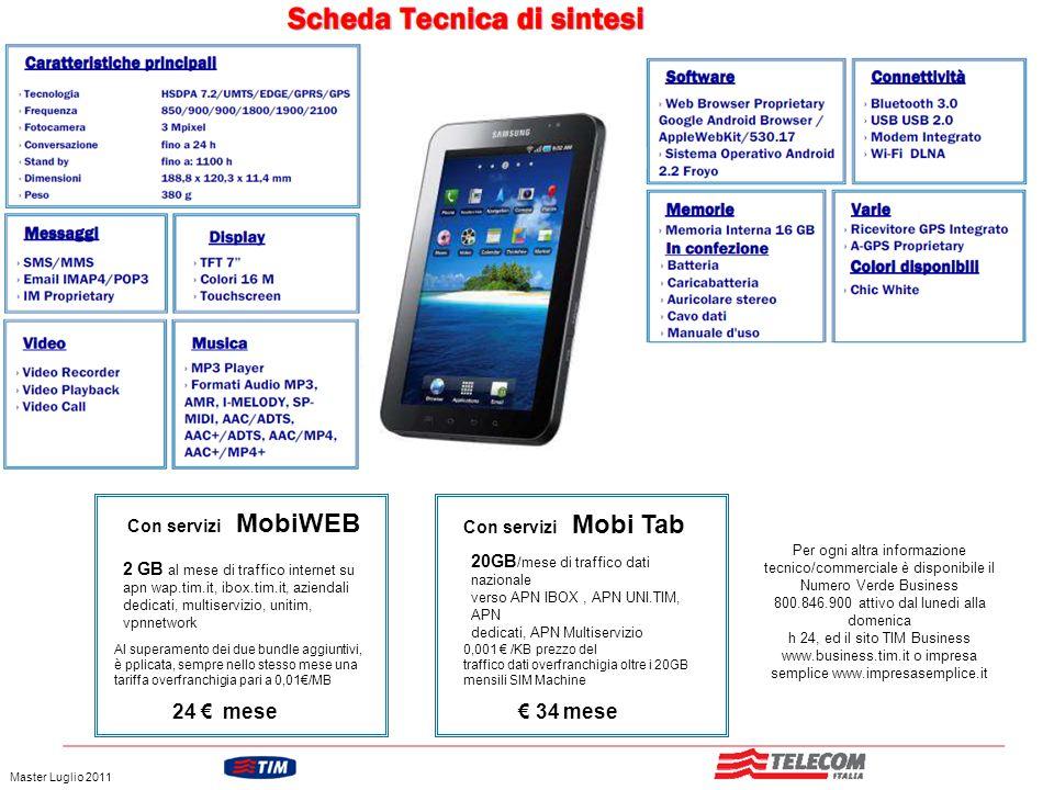 GRUPPO TELECOM ITALIA Con servizi MobiWEB 2 GB al mese di traffico internet su apn wap.tim.it, ibox.tim.it, aziendali dedicati, multiservizio, unitim,