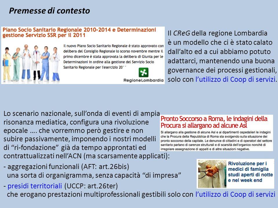 Premesse di contesto Il CReG della regione Lombardia è un modello che ci è stato calato dallalto ed a cui abbiamo potuto adattarci, mantenendo una buo