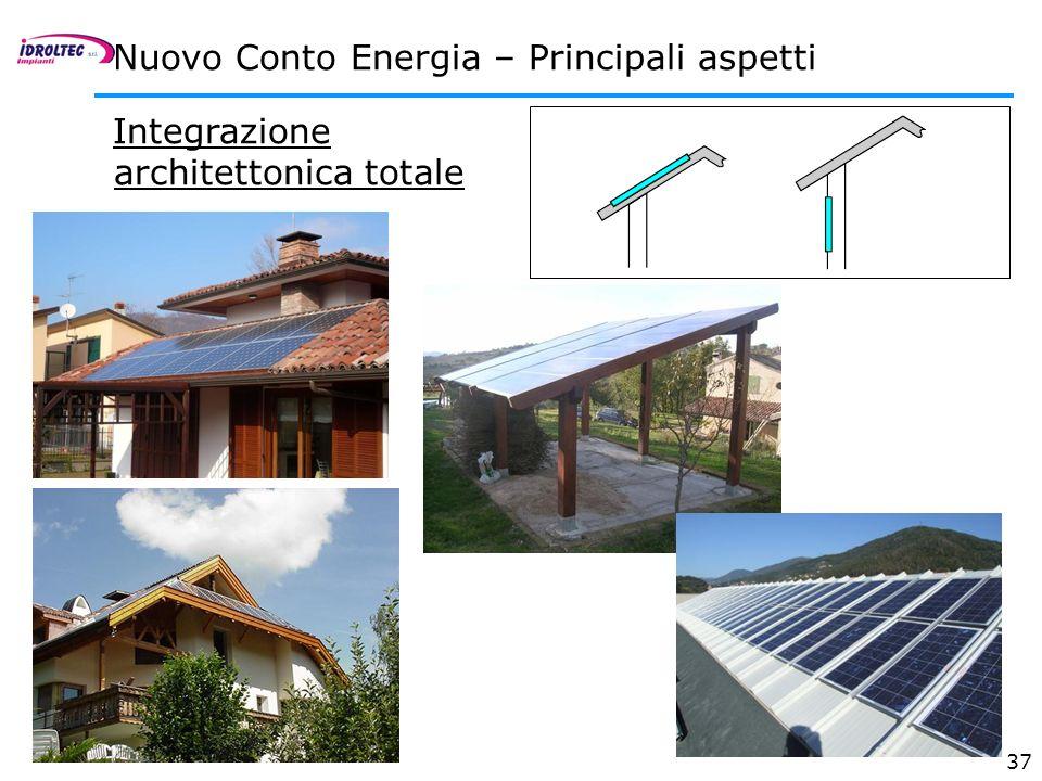 37 Integrazione architettonica totale Nuovo Conto Energia – Principali aspetti