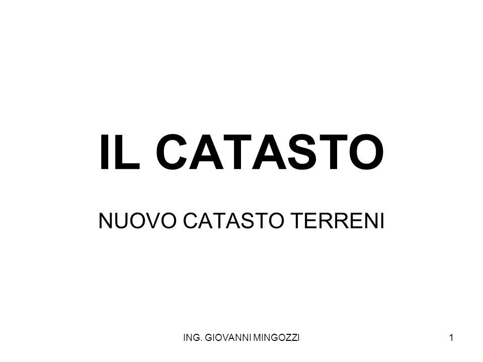 DEFINIZIONI - N.C.T.2 COSE IL CATASTO.