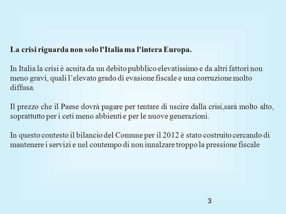3 La crisi riguarda non solo l Italia ma l intera Europa.