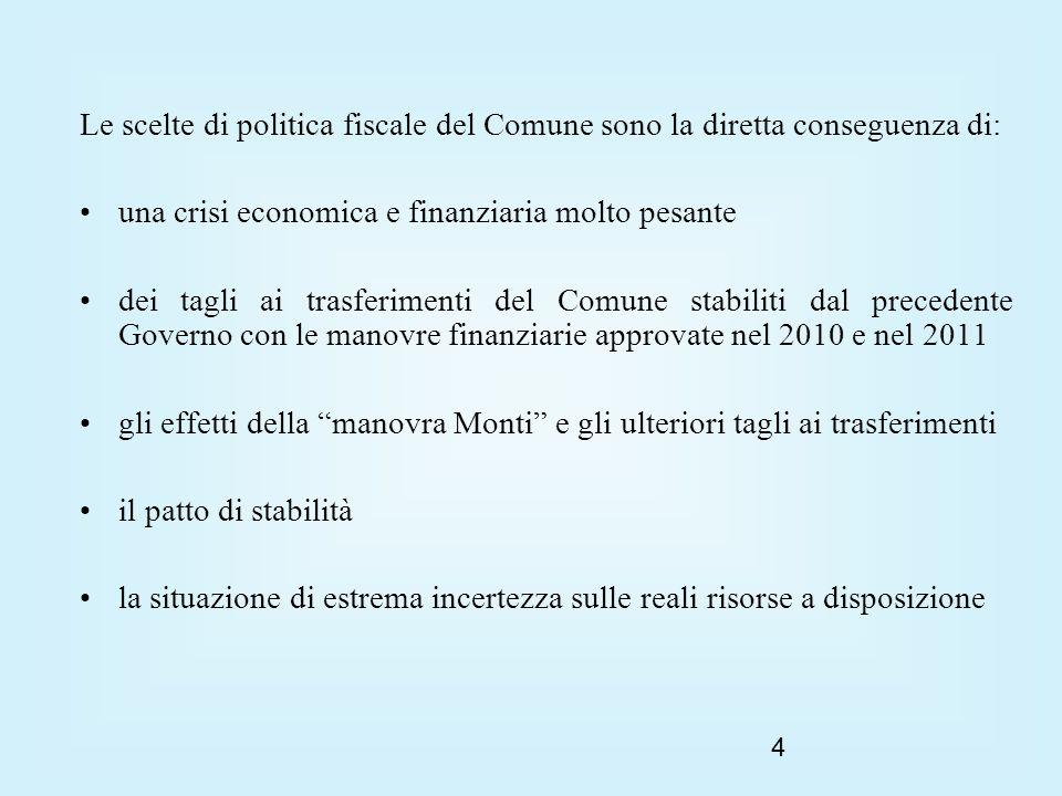 5 Le scelte per il Comune di Portogruaro, come per la gran parte degli enti locali, sono quindi obbligate.