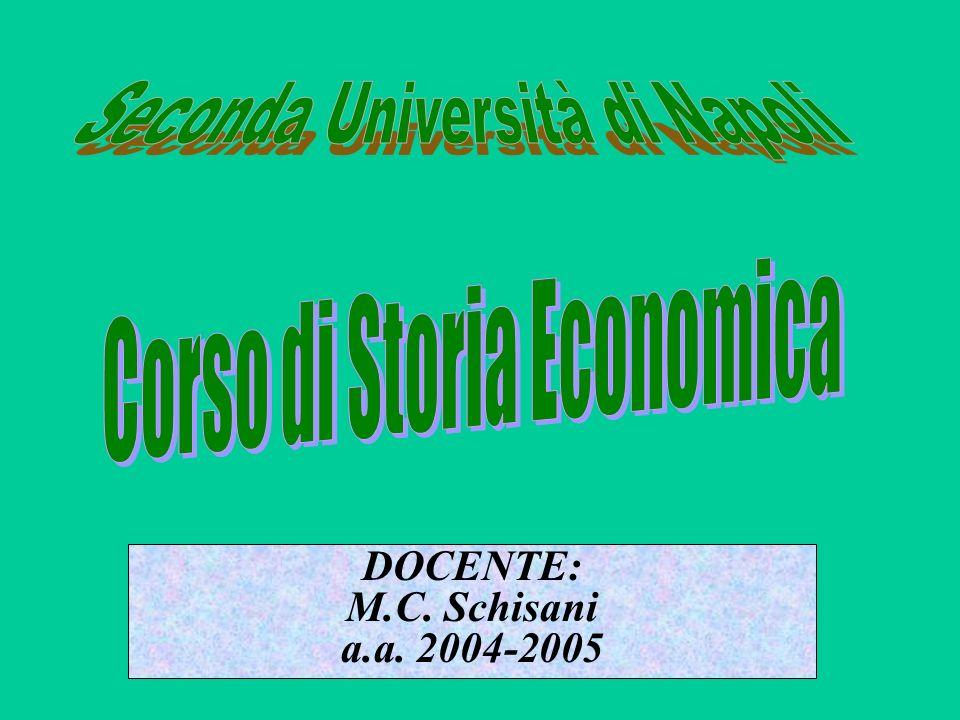 …i mutamenti nel settore AGRICOLO, INDUSTRIALE, dei TRASPORTI, nella POLITICA DOGANALE, nel SETTORE MONETARIO e BANCARIO