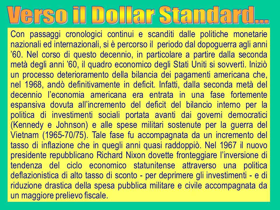 Con passaggi cronologici continui e scanditi dalle politiche monetarie nazionali ed internazionali, si è percorso il periodo dal dopoguerra agli anni