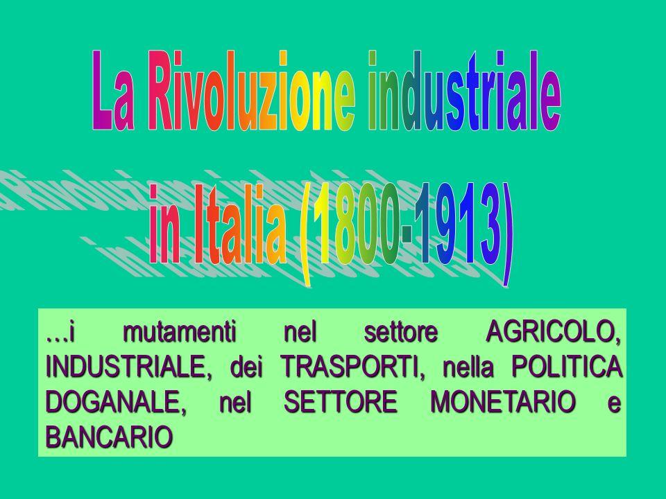 La storia della costituzione del sistema economico italiano è legata ad una cronologia particolare che risente delle vicende politiche relative al progressivo processo di unificazione del Paese cui furono legate le vicende relative al ritardato sviluppo economico e conseguentemente al ritardato sviluppo del sistema bancario… CRONOLOGIA POLITICA 1860 UNITA DITALIA; 1866 LIBERAZIONE DEL VENETO (III guerra dIndipendenza); 1870 ANNESSIONE di ROMA (Breccia di Porta Pia); 1915-18 ANNESSIONE di TRENTO e TRIESTE dopo la I g.m.