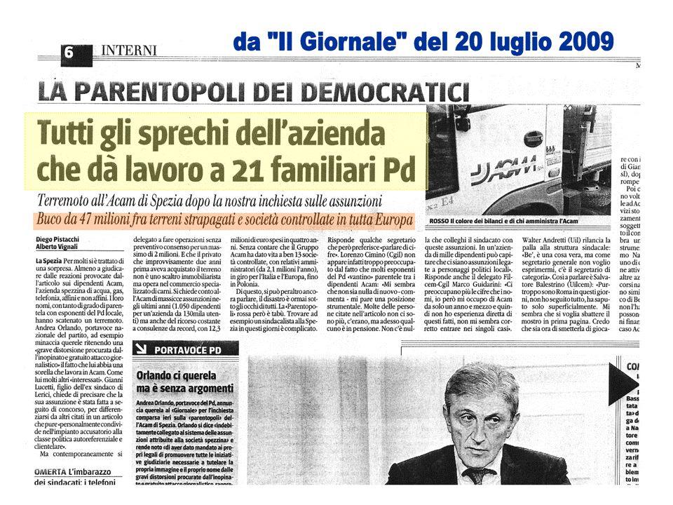 Anno 2008 Rapporto fra debiti e patrimonio HERA (Bologna): 1,0 A2A (Milano-Brescia): 0,7 IRIDE (Genova-Torino): 0,9 ACEA (Roma): 1,2 ENIA (PR, RE, PC): 1,0 ACAM (La Spezia): 2,3 (Fonte: Bilanci consolidati di Gruppo - esercizio 2008) Analisi a cura di Giacomo Gatti