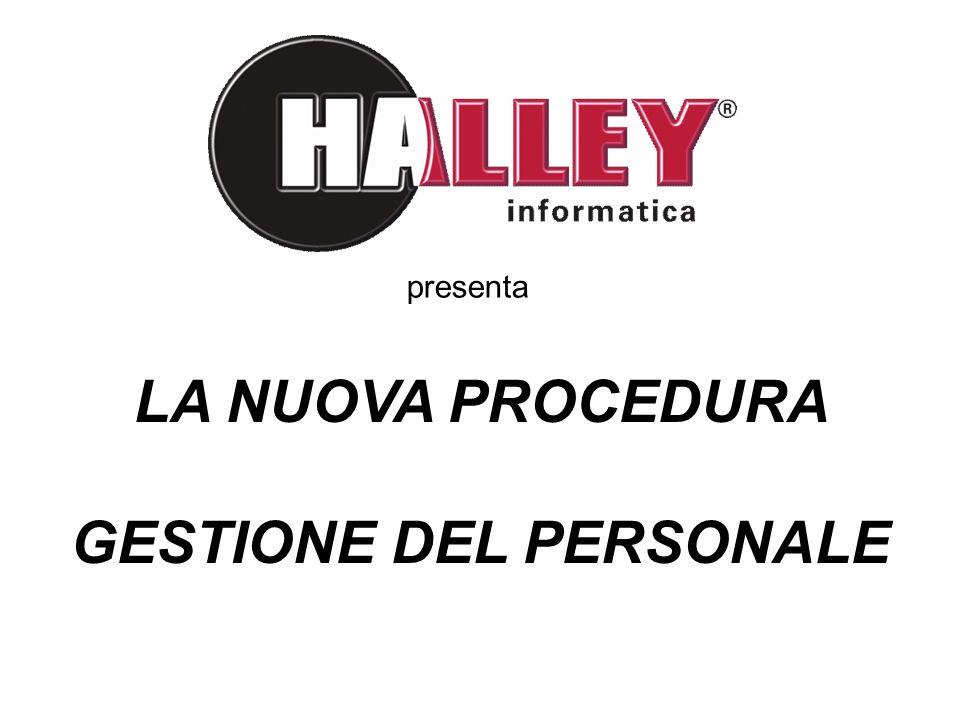 LA NUOVA PROCEDURA GESTIONE DEL PERSONALE presenta