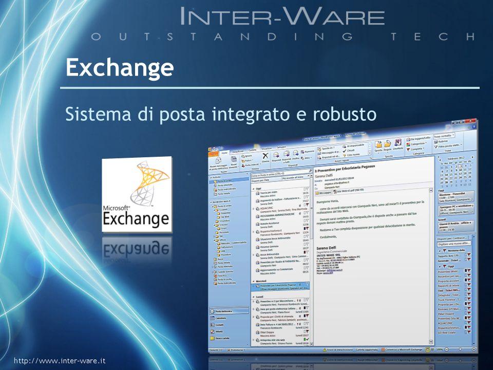 Exchange Sistema di posta integrato e robusto