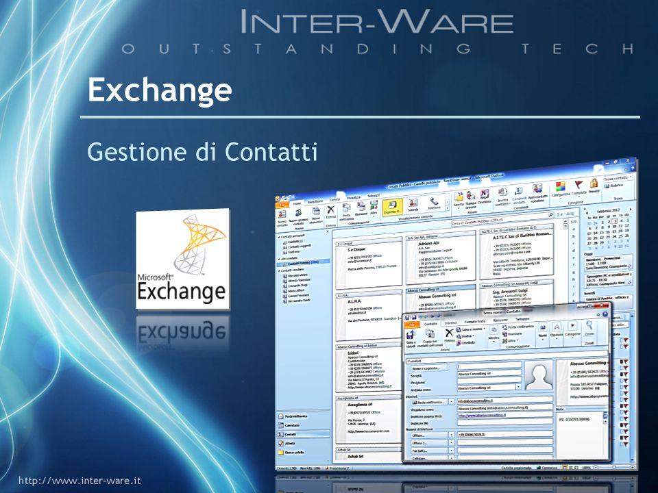 Exchange Gestione di Contatti