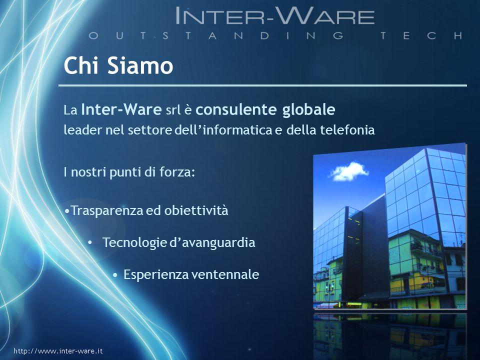 Chi Siamo La Inter-Ware srl è consulente globale leader nel settore dellinformatica e della telefonia I nostri punti di forza: Trasparenza ed obiettiv