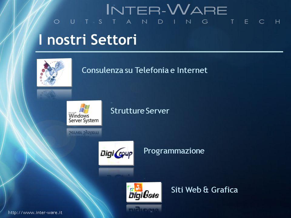 I nostri Settori Programmazione Siti Web & Grafica Consulenza su Telefonia e Internet Strutture Server