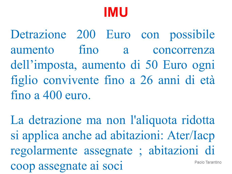 Detrazione 200 Euro con possibile aumento fino a concorrenza dellimposta, aumento di 50 Euro ogni figlio convivente fino a 26 anni di età fino a 400 e