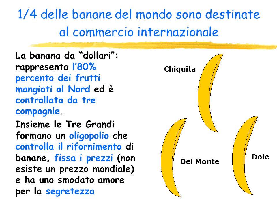 Il frutto della discordia La guerra delle banane viene combattuta fra due regioni (Stati Uniti ed Europa ) che in realtà non coltivano banane. Il Bras