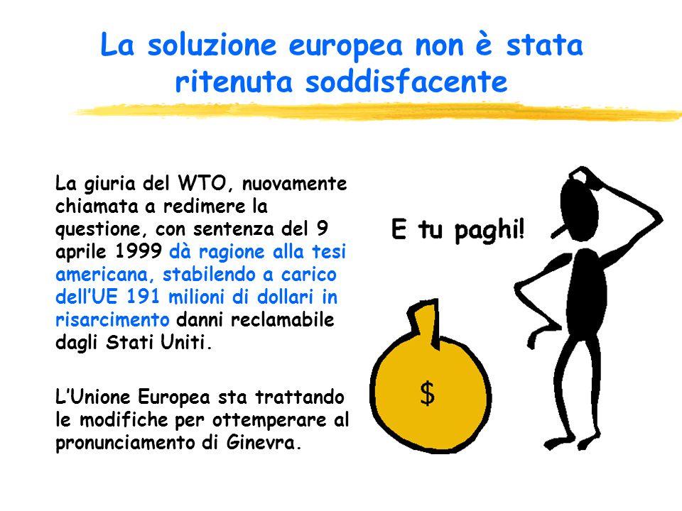 Gennaio 1998: la Commissione di Bruxelles presenta una proposta di modifica per adeguarsi alla sentenza Assistenza finanziaria e tecnica ai produttori