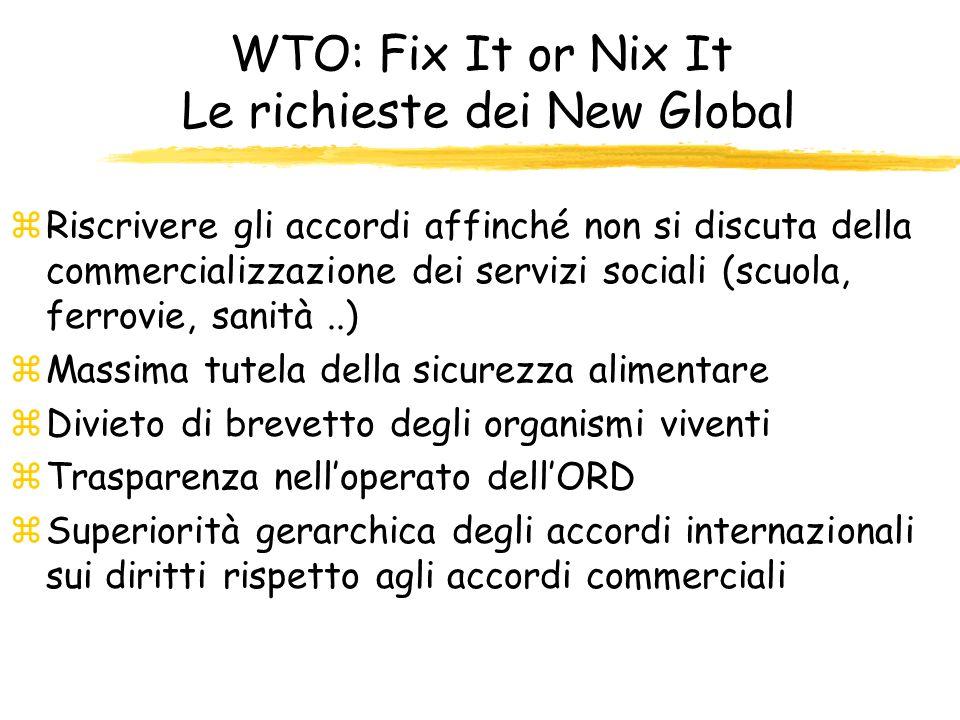 Quali prospettive per il WTO? E necessario abbandonare la sindrome di TINA (There Is No Alternative) ed essere presenti come società civile al fine di