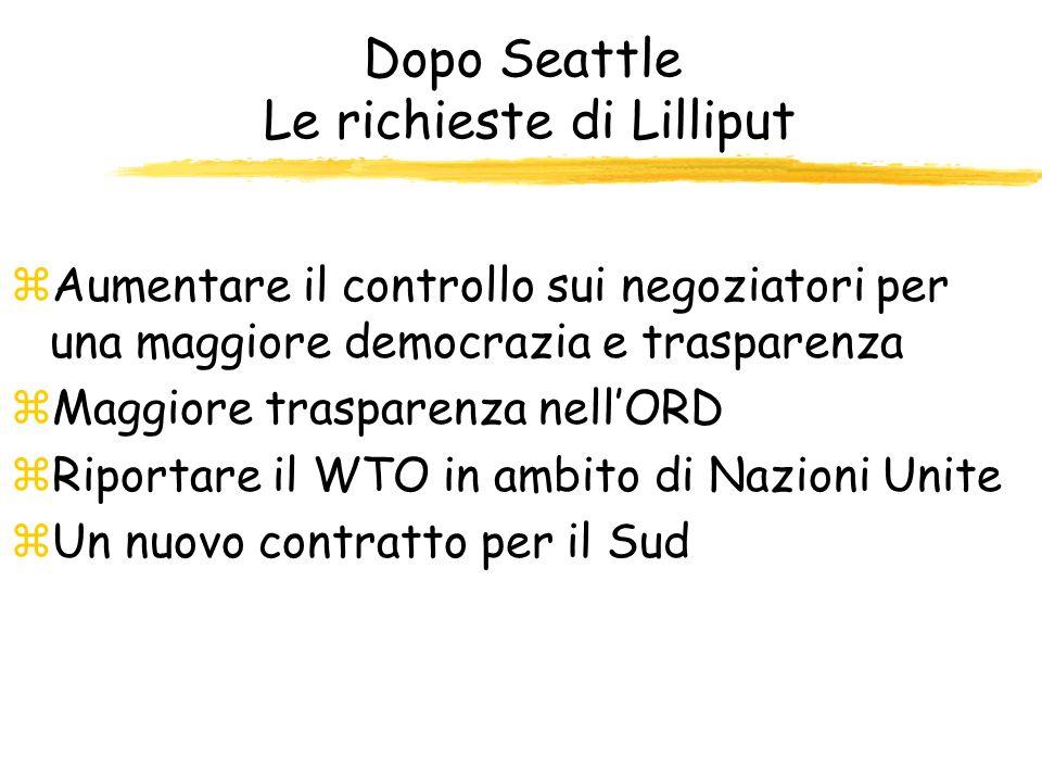 WTO: Fix It or Nix It Le richieste dei New Global zRiscrivere gli accordi affinché non si discuta della commercializzazione dei servizi sociali (scuol