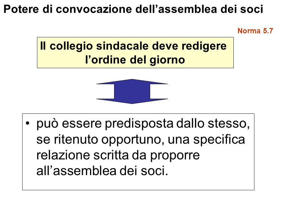 Potere di convocazione dellassemblea dei soci può essere predisposta dallo stesso, se ritenuto opportuno, una specifica relazione scritta da proporre