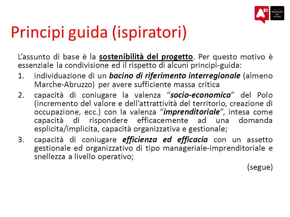 Principi guida (ispiratori) Lassunto di base è la sostenibilità del progetto.