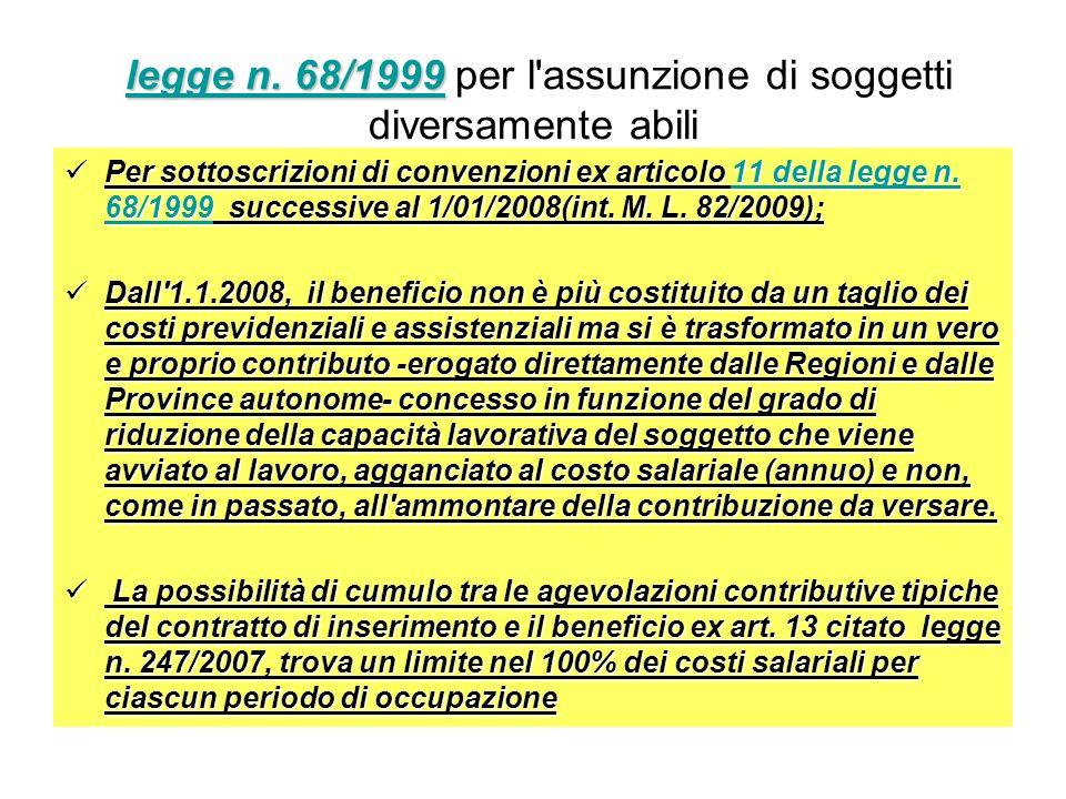 legge n. 68/1999 legge n. 68/1999 legge n. 68/1999 per l'assunzione di soggetti diversamente abililegge n. 68/1999 Per sottoscrizioni di convenzioni e