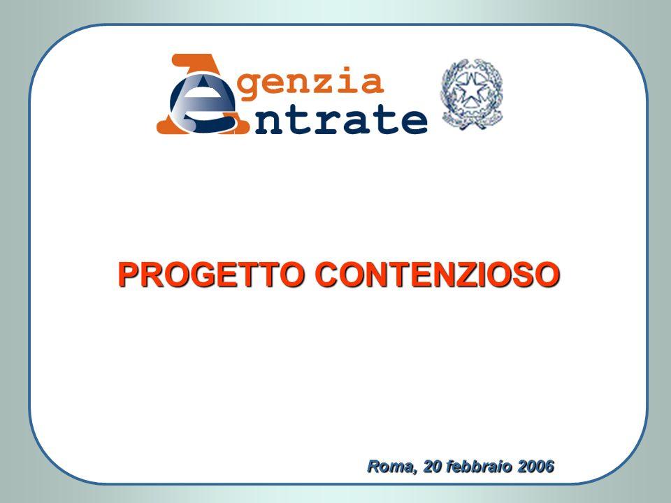 Roma, 20 febbraio 2006 PROGETTO CONTENZIOSO