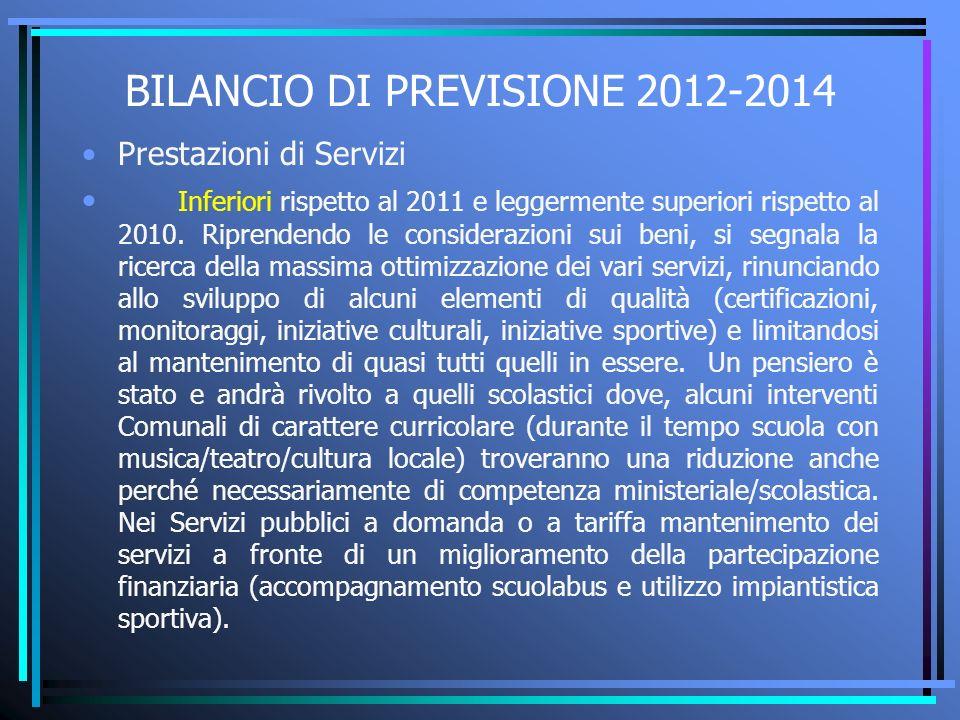 BILANCIO DI PREVISIONE 2012-2014