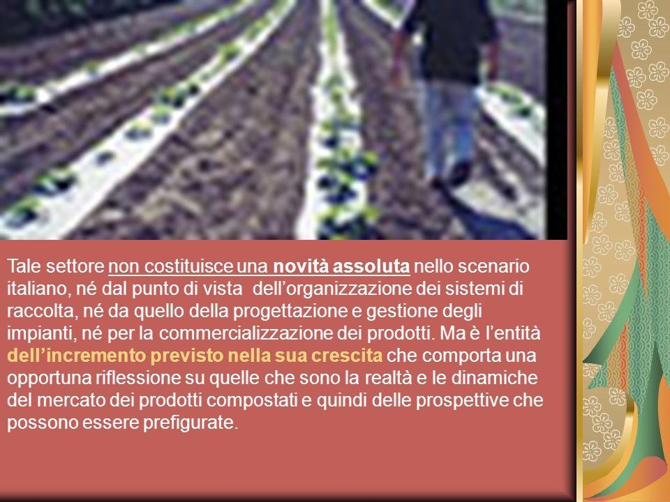 Tale settore non costituisce una novità assoluta nello scenario italiano, né dal punto di vista dellorganizzazione dei sistemi di raccolta, né da quel