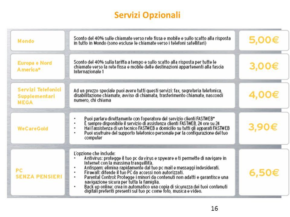 Servizi Opzionali 16