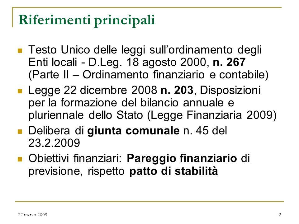 San Severino Marche BILANCIO PREVISIONALE 2009 – 2010 – 2011 www.comune.sanseverinomarche.mc.it www.comune.sanseverinomarche.mc.it 27 marzo 20091