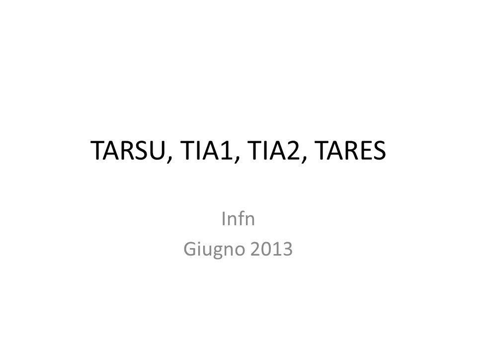 TARSU, TIA1, TIA2, TARES Infn Giugno 2013