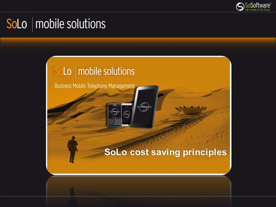 SoLo cost saving principles