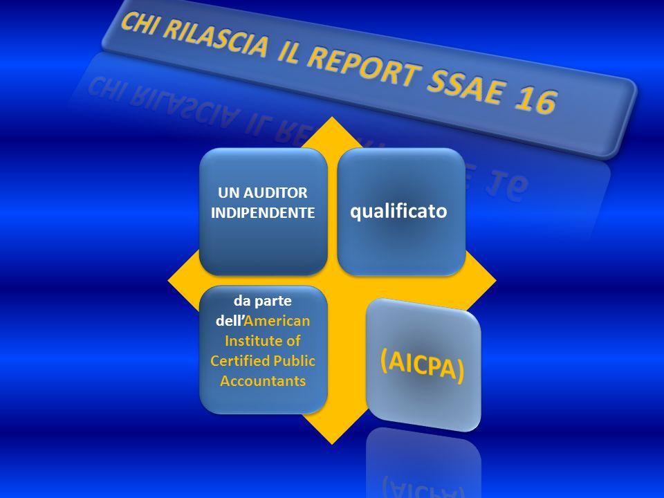UN AUDITOR INDIPENDENTE qualificato da parte dellAmerican Institute of Certified Public Accountants