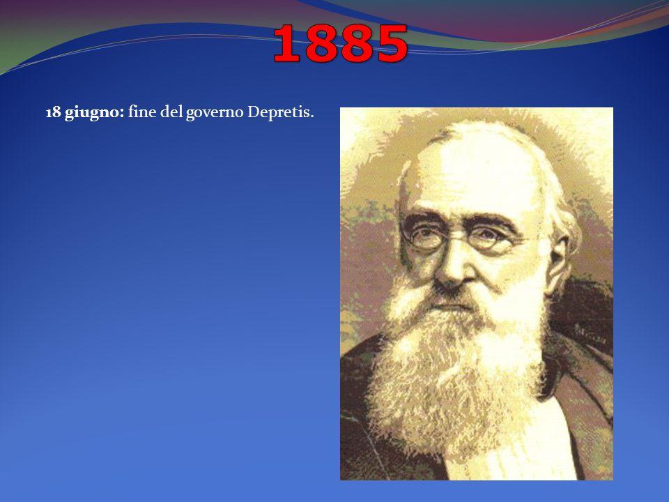 18 giugno: fine del governo Depretis.
