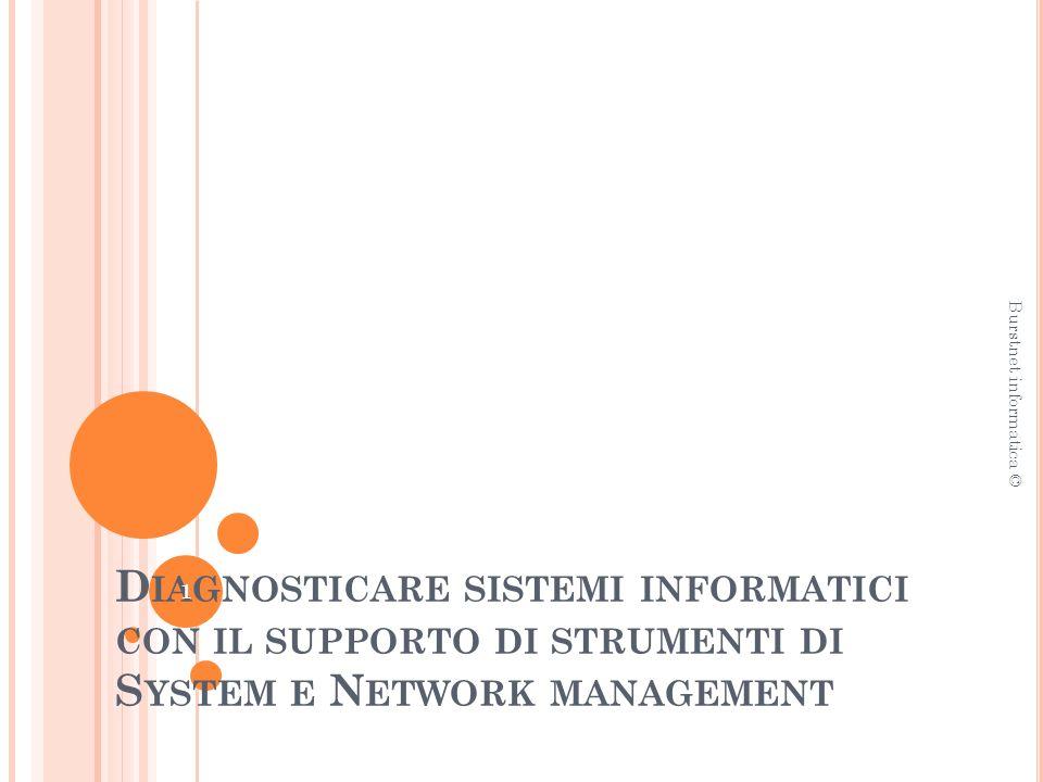 S YSTEM MANAGEMENT Network capacity and utilization monitoring Pianificare una infrastruttura di rete per ampliamenti futuri è una attività che implica conoscenze approfondite delle risorse di rete e delle rispettive metriche di valutazione.