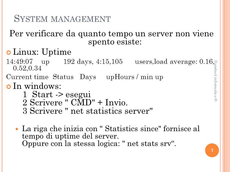 N ETWORK MANAGEMENT Un modo per caratterizzare le funzioni per il network management è attraverso lo standard FCAPS.
