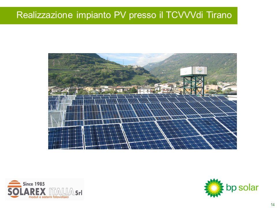 14 Realizzazione impianto PV presso il TCVVVdi Tirano