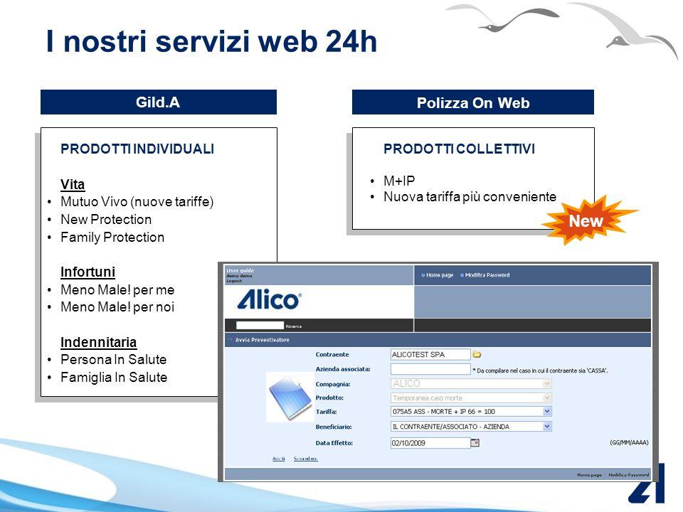 Servizi on-line Alico AREA RISERVATA accessibile da www.alicoitalia.com Roadshow Alico Italia