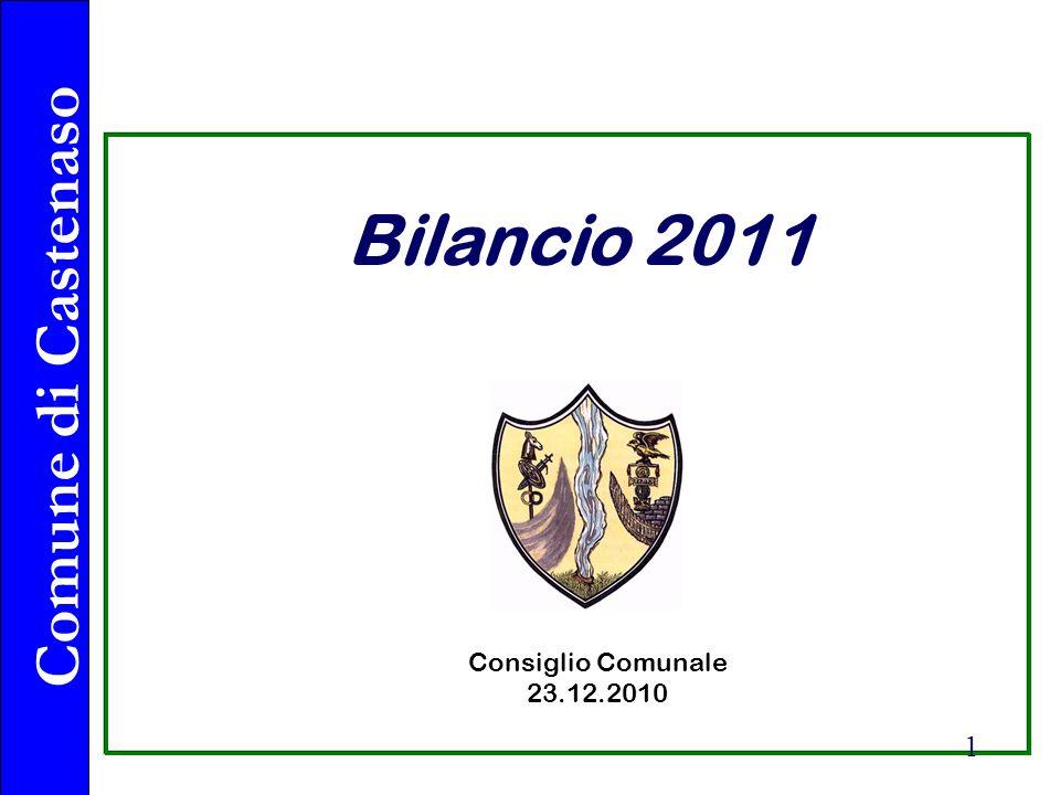 Comune di Castenaso 1 Bilancio 2011 Consiglio Comunale 23.12.2010