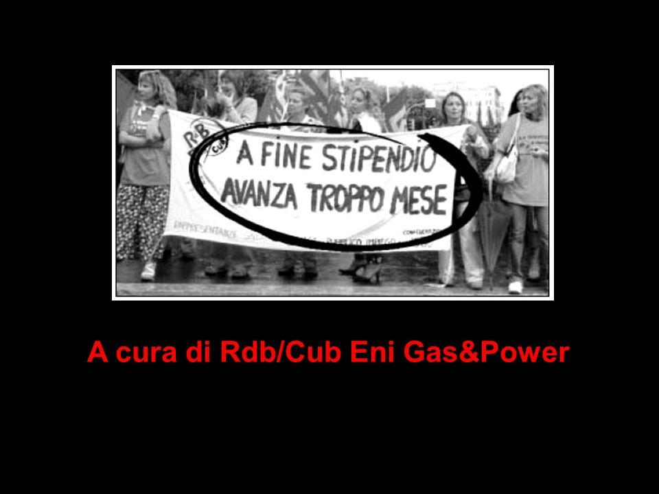 A cura di Rdb/Cub Eni Gas&Power