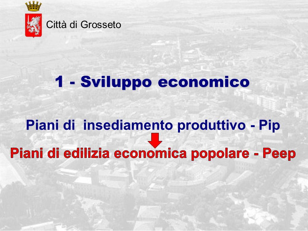 Città di Grosseto 1 - Sviluppo economico Piani di insediamento produttivo - Pip