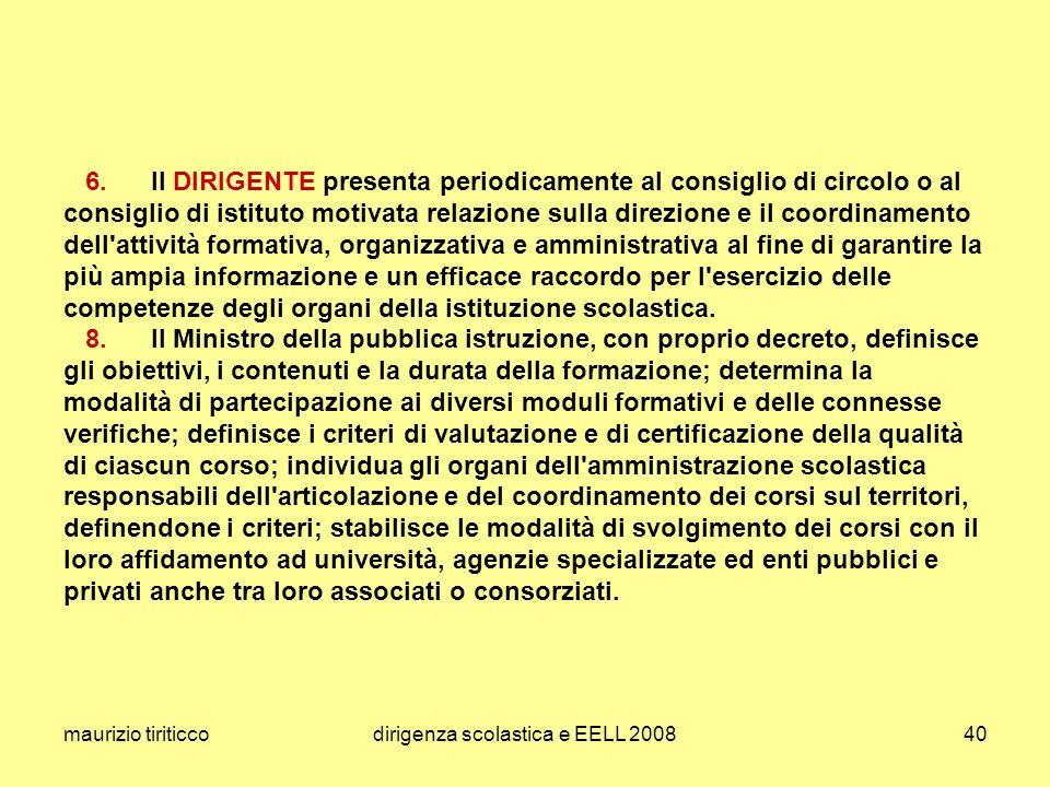 maurizio tiriticcodirigenza scolastica e EELL 200840 6.