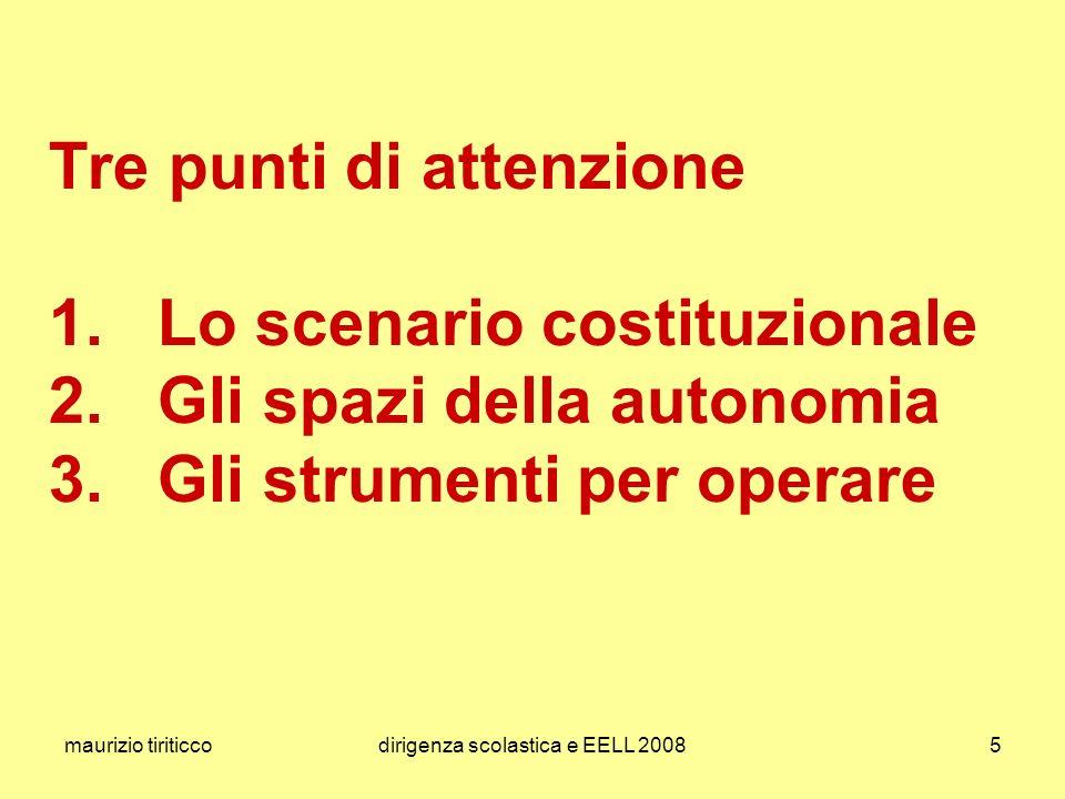 maurizio tiriticcodirigenza scolastica e EELL 200826 le norme italiane visualizzazione del Sistema Educativo Nazionale di Istruzione e Formazione