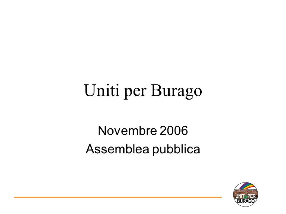 Uniti per Burago Novembre 2006 Assemblea pubblica