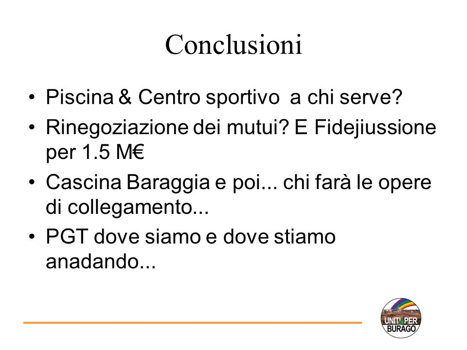 Conclusioni Piscina & Centro sportivo a chi serve.