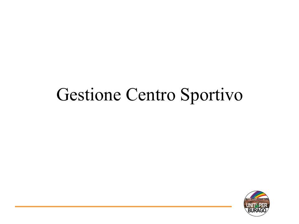 Gestione Centro Sportivo