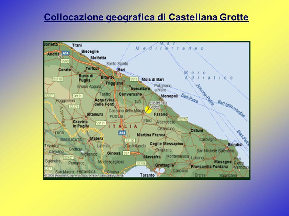 Collocazione geografica di Castellana Grotte