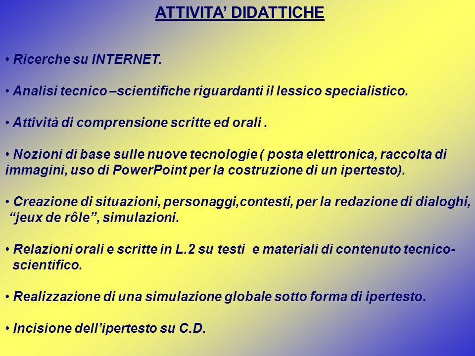 STRUMENTI Computer (internet, foglio elettronico, e-mail, c.d.).