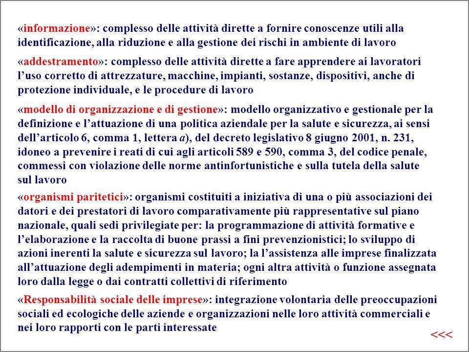 «organismi paritetici»: organismi costituiti a iniziativa di una o più associazioni dei datori e dei prestatori di lavoro comparativamente più rappres